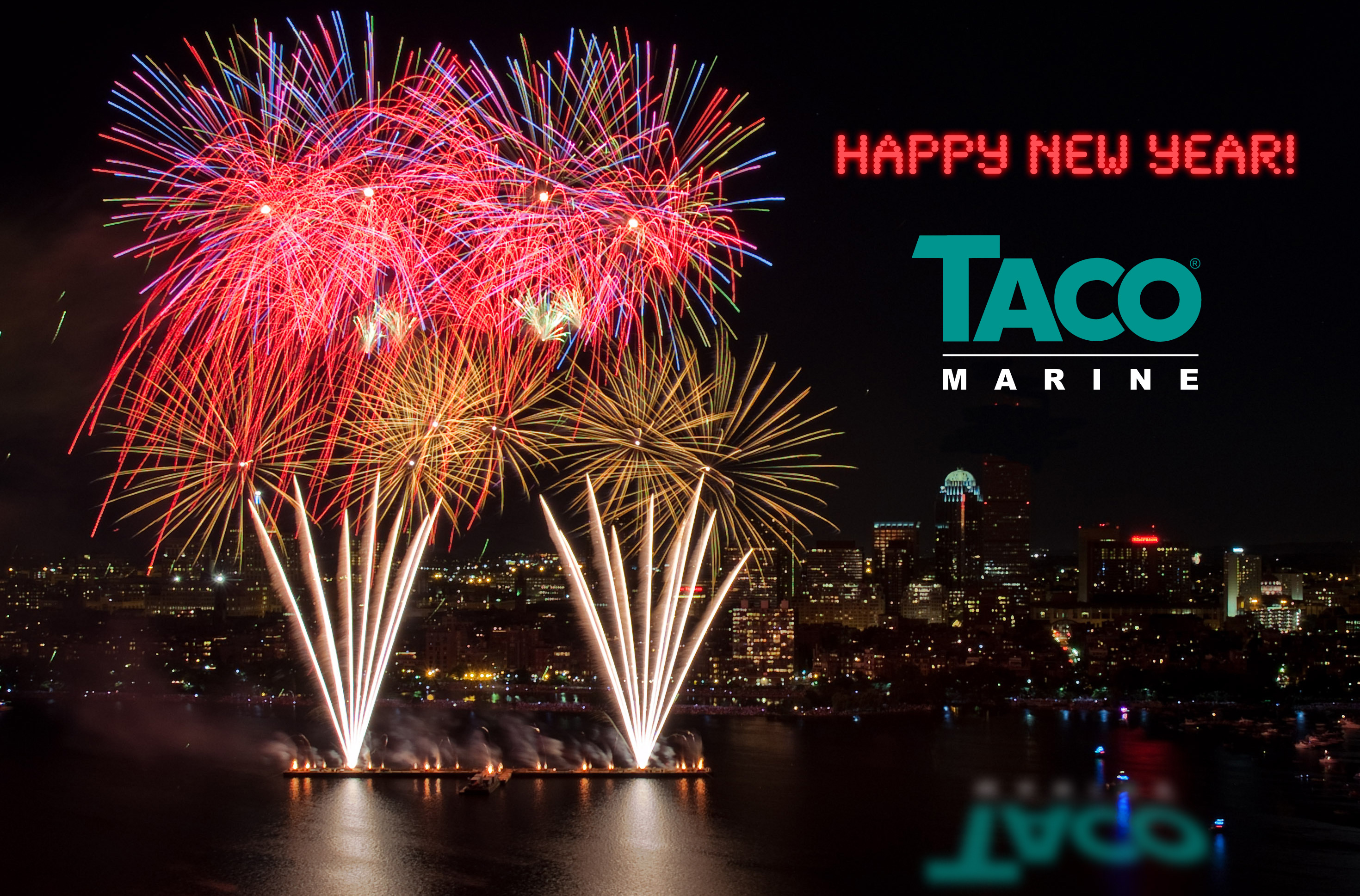 Happy new year from Taco Marine