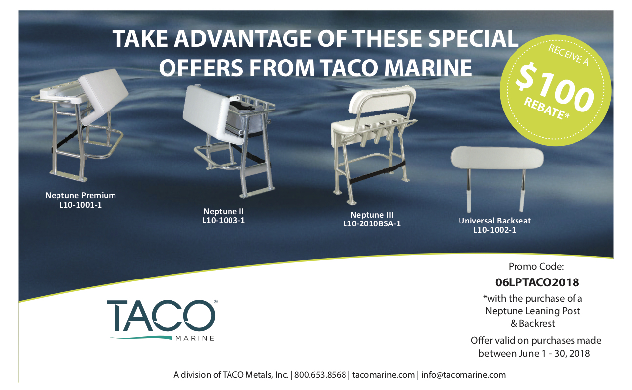Taco Marine Universal Leaning Post Backrest