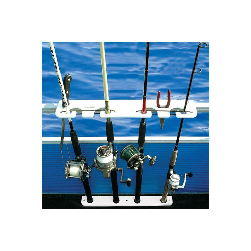4 Rod Deluxe Pontoon Boat Rod Rack Taco Marine