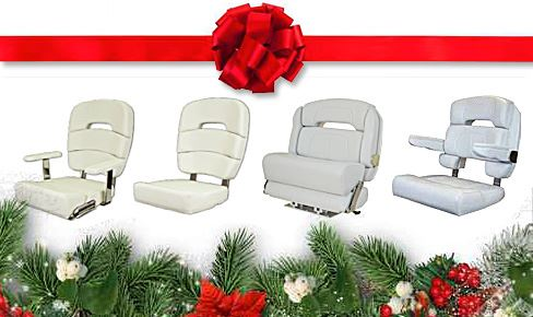 Helm Chairs Fit for Santa – And a Christmas Present for Your Boat!