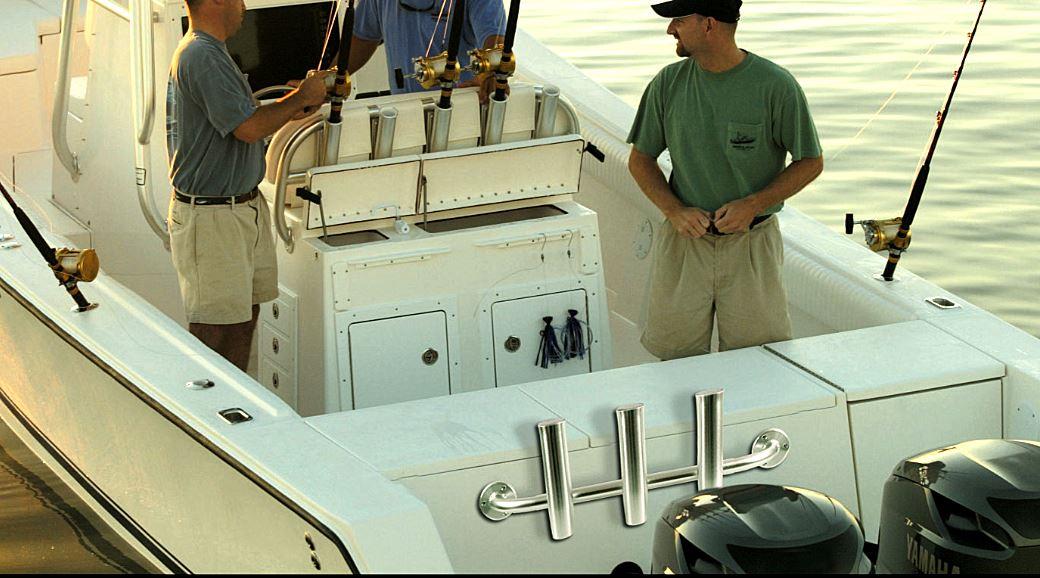 Innovative Rod Racks Mount on Boat Transom