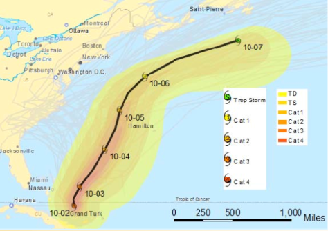 Hurricane Joaquin Forecasted to Move Away from the US Coast