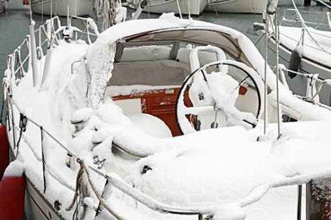 Winter ice and snow storm Jonas causing many issues for boaters!