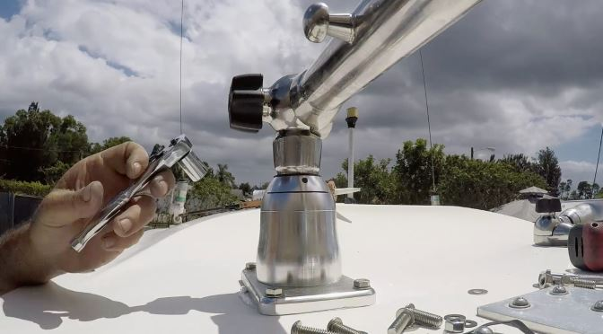 TACO Outriggers Installed on Bayliner Hardtop in Florida Sportsman Project Dreamboat Episode 5