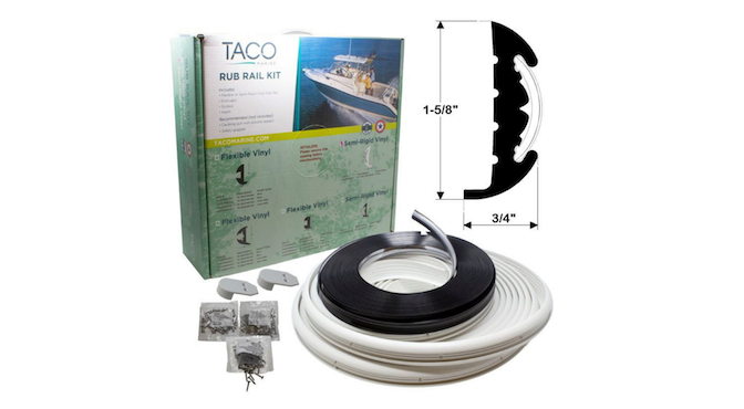 TACO Marine Tuesday Featured Product – Vinyl Rub Rail Kits