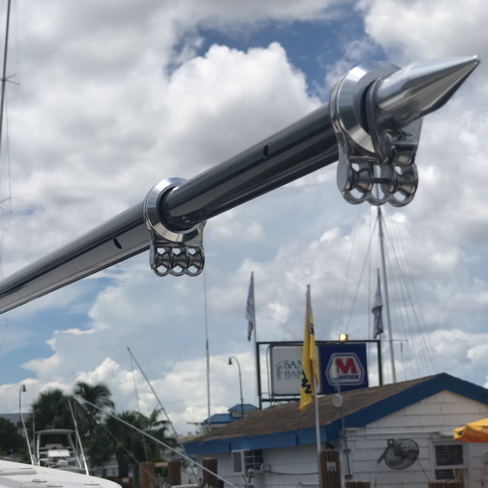 Taco Marine Black Standard OT-4200CF Carbon Fiber Tele-Outrigger Pole-1-1//2 x 20