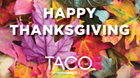 Happy Thanksgiving from TACO Marine