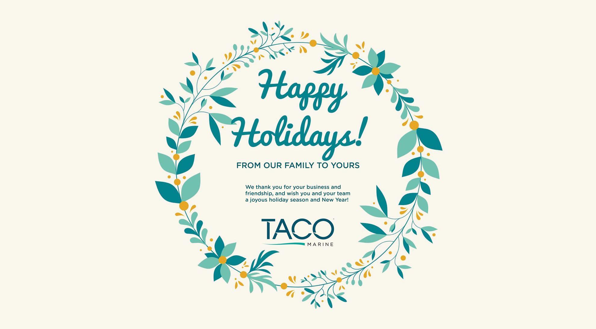 A Holiday Poem from TACO Marine