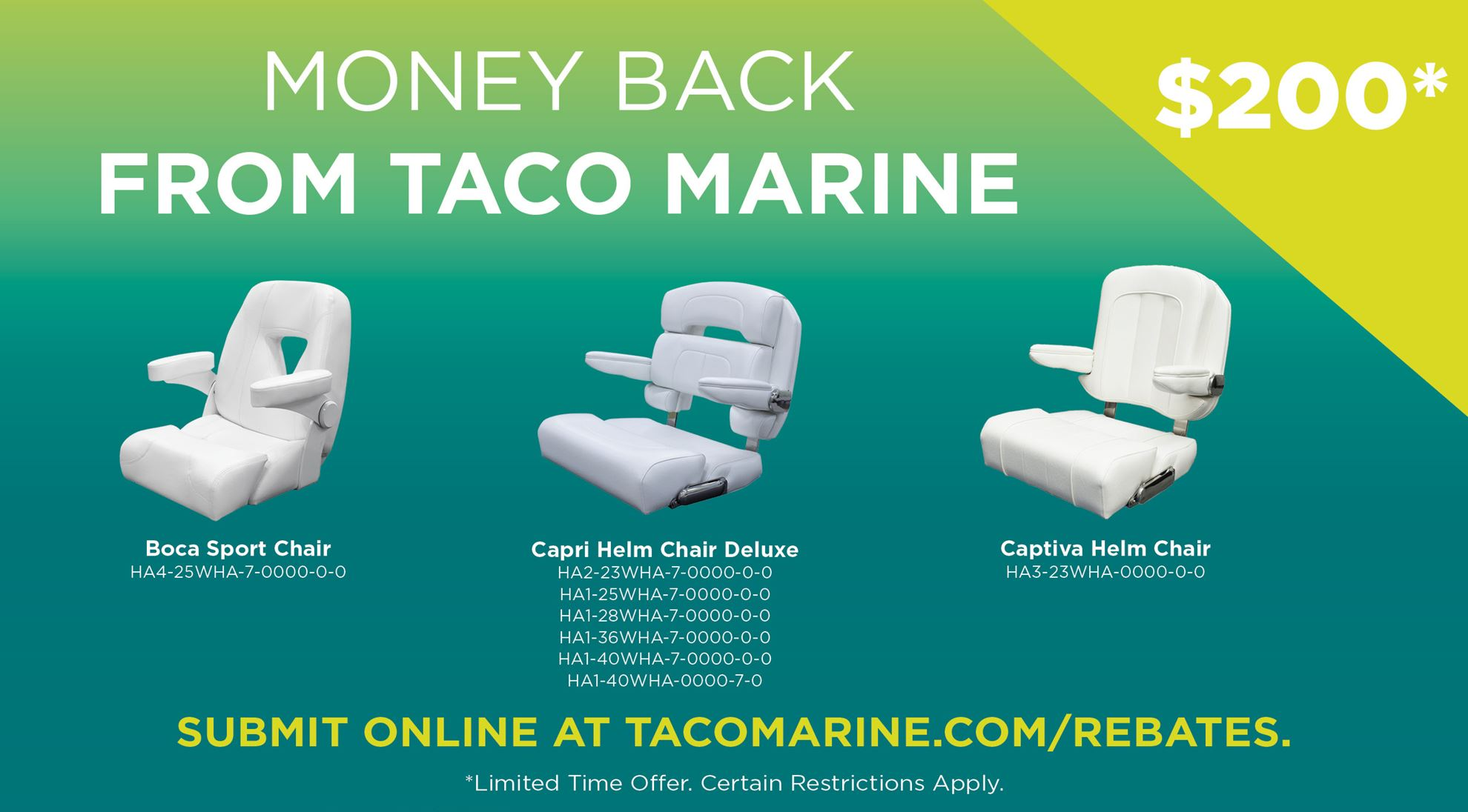 💰MONEY BACK 💰with TACO Marine Special Offers