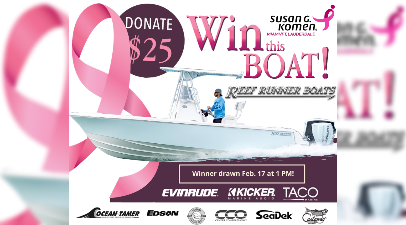 Donate to Win Brand New Reef Runner 230 Open Center Console!
