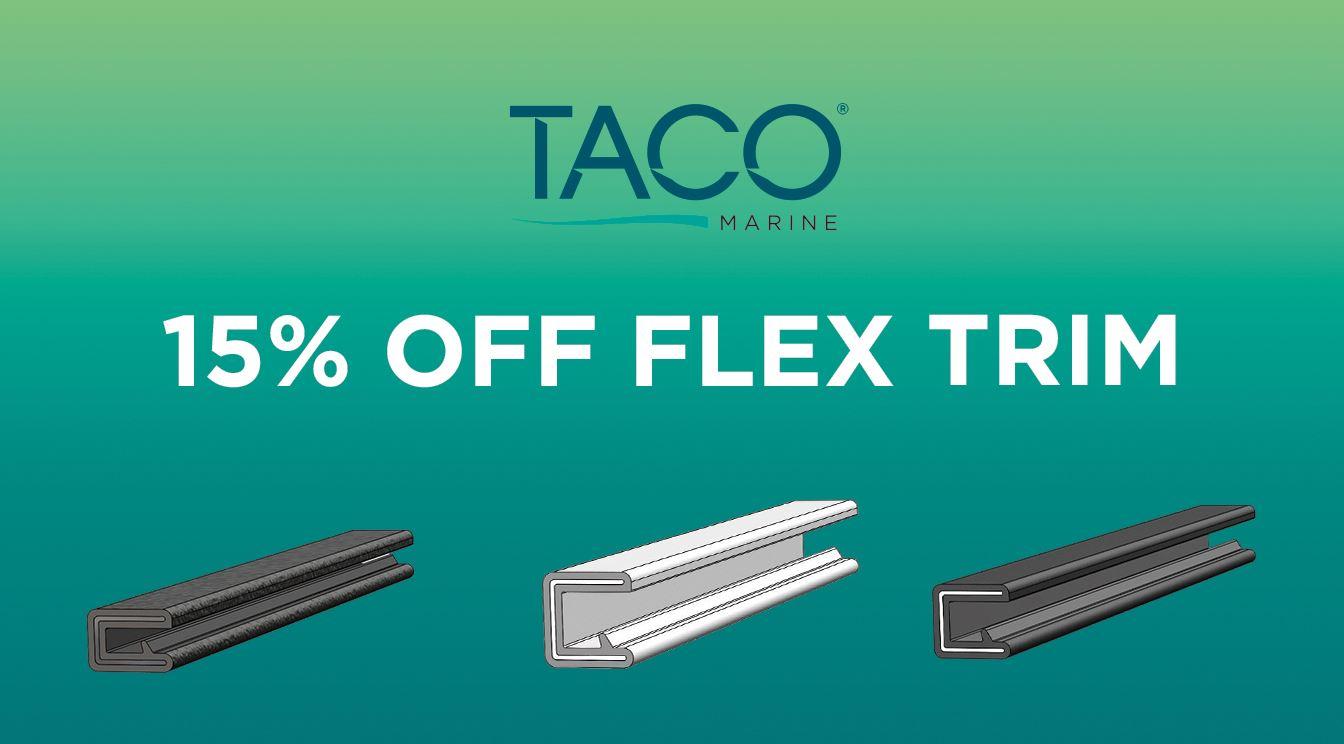 Take 15% OFF TACO Flex Trim!