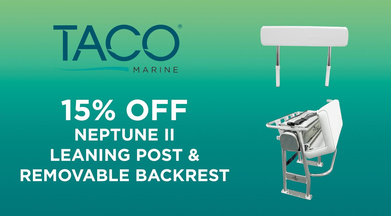 15% OFF the Neptune II Leaning Post & Backrest for a Limited Time!