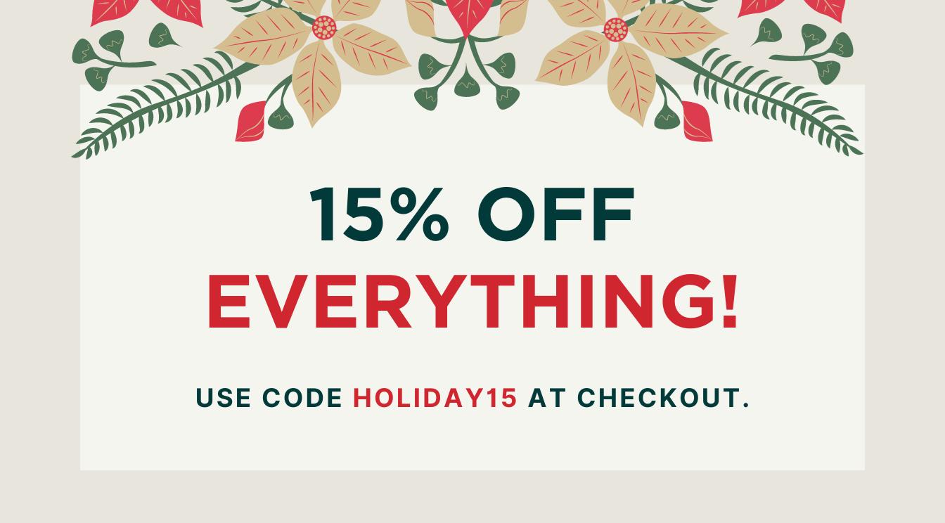 15% off EVERYTHING, Including Rub Rail!