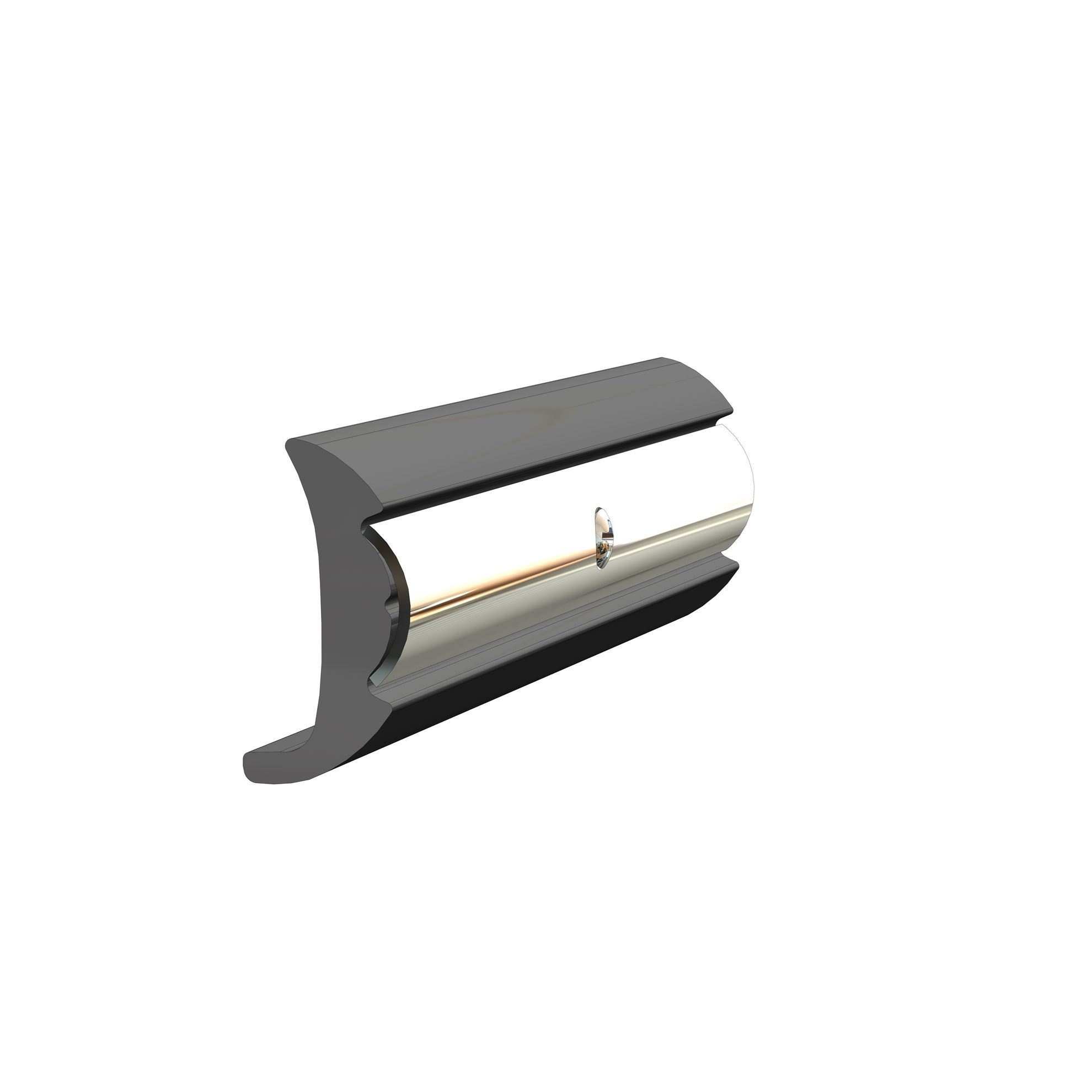 TACO Marine V21-9951 Rigid Vinyl Rub Rail 1-9/16'' X 3/4'', black